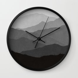 Big Mountain Fog Wall Clock