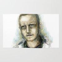 jesse pinkman Area & Throw Rugs featuring Jesse Pinkman - Breaking Bad by Lisa Lemoine