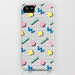 Memphis pattern no.3 iPhone Case