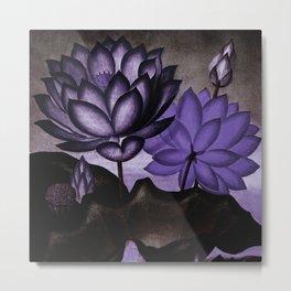 Deep Purple Sacred Egyptian Bean Temple of Flora Metal Print
