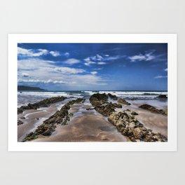 Widemouth Bay Rock Formation Art Print