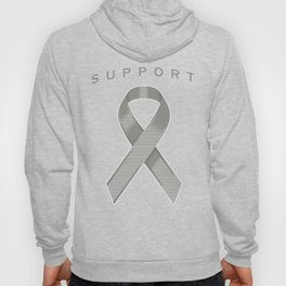 Gray Awareness Ribbon Hoody