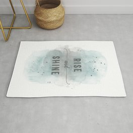 Rise and shine | watercolor turquoise Rug