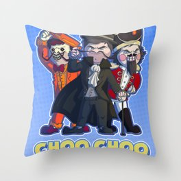 Choo Choo - Steam Train Brian (with background) Throw Pillow