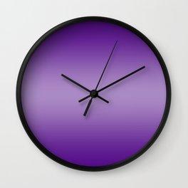 Violet to Pastel Violet Horizontal Bilinear Gradient Wall Clock