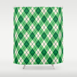 Irish Argyle Shower Curtain