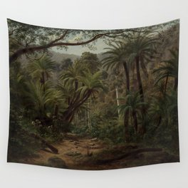 Ferntree Gully in the Dandenong Ranges by Eu von Guerard Date 1857  Romanticism  Landscape Wall Tapestry