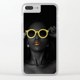 Sunnies at Night Clear iPhone Case