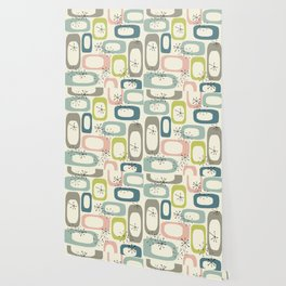 Mid Century Modern Shapes #society6 #buyart Wallpaper