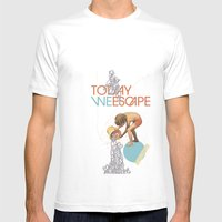 TODAY WE ESCAPE Mens Fitted Tee MEDIUM White