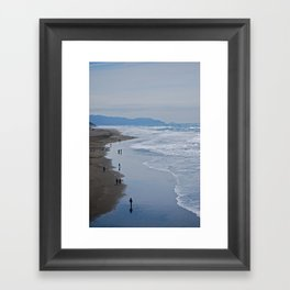Cold Beach Framed Art Print