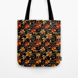 Metall Blumen Tote Bag
