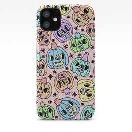 Pastel Pumpkins On Pink iPhone Case
