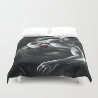 "dragon age Duvet Covers featuring Dragon Age - Alistair with rose by Barbara ""Yuhime"" Wyrowińska"