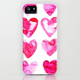 Heart Speckle iPhone Case
