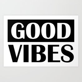 Good Vibes Music Base Deep Beat Art Print