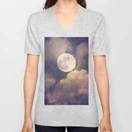 To the Moon and Back  Unisex V-Neck
