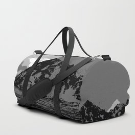 Chugach Mountains - B & W Pop Art Duffle Bag
