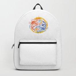 Greek Mythology Legendary Creatures Myth Bird Sun Symbol Gift Yin Yang Phoenix Graffiti Backpack
