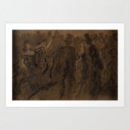CONSTANTIN GUYS, DANCE PERFORMANCE. Art Print