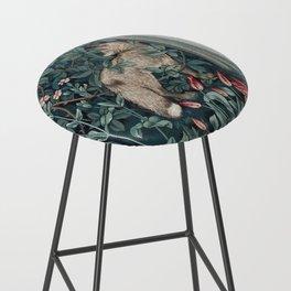 William Morris Forest Fox Tapestry Bar Stool