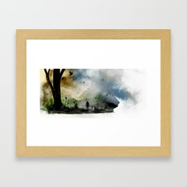 Mountain Pass Framed Art Print