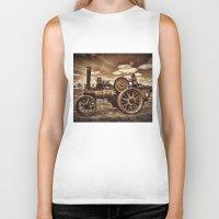 jem Biker Tanks featuring Jem General Purpose Engine in sepia by Avril Harris