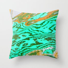 Mekong Reflections Throw Pillow