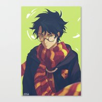 viria Canvas Prints featuring the boy who lived by viria