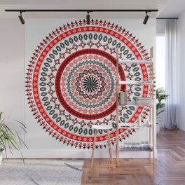 Mandala Romanian traditional symbols Wall Mural
