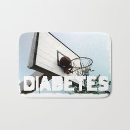 Diabetes Basketball Bath Mat