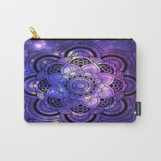 Mandala : Purple Blue Galaxy Carry-All Pouch