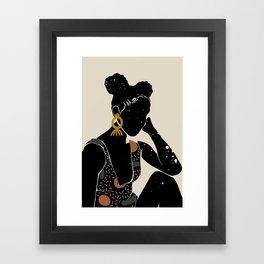 Black Hair No. 6 Framed Art Print