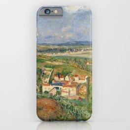 """Camille Pissarro """"L'Hermitage En Été, Pontoise"""" iPhone Case"""