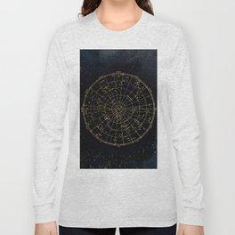 Golden Star Map Long Sleeve T-shirt