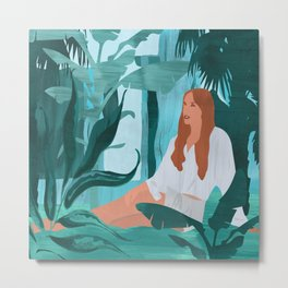 Surrounded by nature #art print #society6 Metal Print
