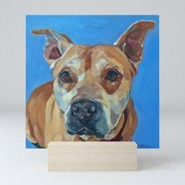 Happy the Bully Dog Portrait Mini Art Print
