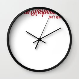 Funny Drink Responsibly Dont Spill Wall Clock