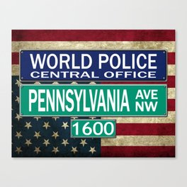 Self Appointed World Police Canvas Print