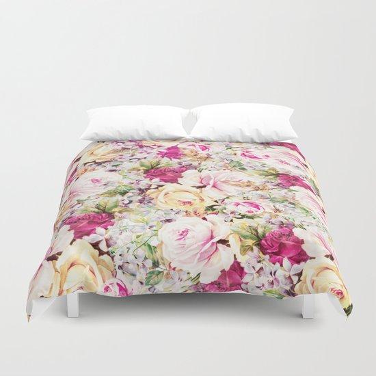 carpet of roses Duvet Cover
