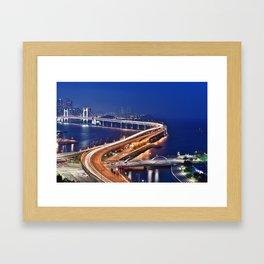 Gwangandaegyo Bridge (Busan, South Korea) Framed Art Print