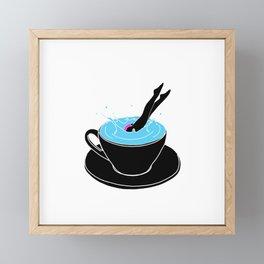 Coffee Diving Framed Mini Art Print