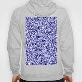 Tiny Spots - White and Dark Blue Hoody