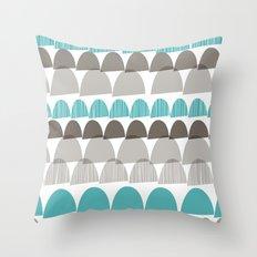 Shroom aqua Throw Pillow