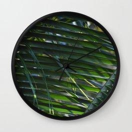 Weave Leaves Wall Clock