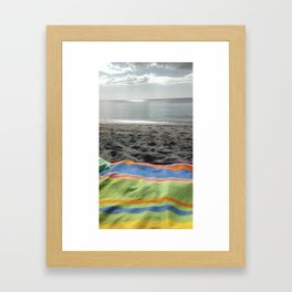 Beach blanket Framed Art Print