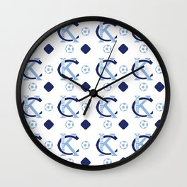 Big Bleu Design Sporting KC Wall Clock