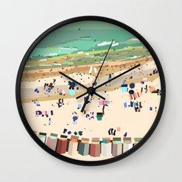 Geometric Brighton Beach bathing boxes, Melbourne, Australia Wall Clock