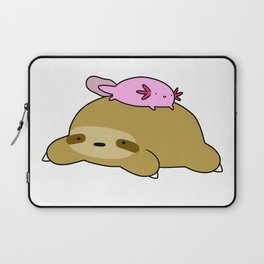 Axolotl and Sloth Laptop Sleeve