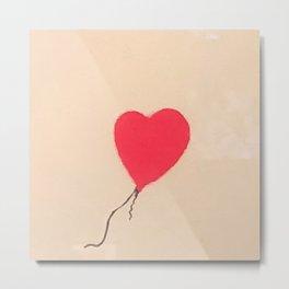 Banksy Heart Balloon Metal Print